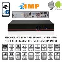 EZCOOL EZ-8104AHD 4MP 4KANAL 4SES 1HDD HDML AHD DVR AHD ANALOG UYUMLUDUR