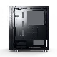 GameBooster GB-G3601B USB3.0 Siyah Rainbow RGB Fan Strip kasa (PSU Yok)