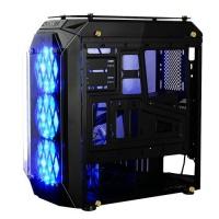 Gamepower EOS Gaming 3*120mm Mavi LED Fanlı Quad Tempered Glass Mid ATX Kasa PSU YOK