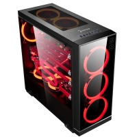 Gamepower HYPNOS Gaming 3*120mm Kırmızı Ring Fanlı Tempered Glass Yan Panel Mid ATX Kasa
