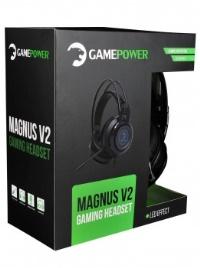 GAMEPOWER MAGNUS V2 SİYAH 3.5MM RGB GAMING kulaklıklı mıkrofon
