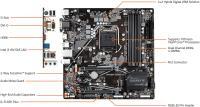 GIGABYTE B460M-DS3H V2 DDR4 2933Mhz mATX 1200P Anakart