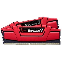 GSKILL RipjawsV Kırmızı 8GB 3000Mhz DDR4 Soğutuculu CL15 Pc Ram F4-3000C15S-8GVRB