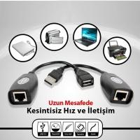 HYTECH HY-U50 USB TO RJ45 EXT 50MT  50 metre uzatma