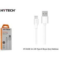 Hytech HY-X105 1m 2A Type-C Beyaz Şarj Kablosu