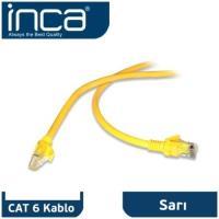 INCA  CAT6 20MT SARI KABLO PATCH ICAT6-20TYFTP