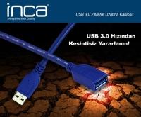 INCA USB to USB 3.0 2MT Uzatma Kablosu IUSB-020T