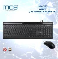INCA Wired Slim Chocolate Dizayn Q Klavye&Mouse Set  IMK-377