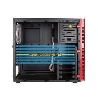 INWIN 703-ATX-PSU 850W 80+PLUS Pencereli ATX Siyah,Kırmızı Alüminyum Kasa