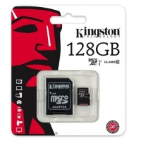 KINGSTON 128GB MICRO SD ADAP Class10 45mb/10mb