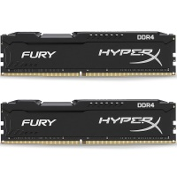 KINGSTON 16GB (2x8GB) HyperX FURY Black DDR4 3200MHz CL18 1.2V Dual Kit Ram