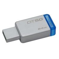 KINGSTON MEMORY  DT50/64G 64GB METAL MAVİ USB3.1 USB BELLEK
