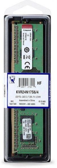 KINGSTON  KVR24N17S6/4 4GB 2400Mhz DDR4 CL17