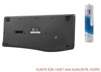 Everest KM-6017 Siyah Usb Kablosuz Q Multimedia Klavye + Mouse Set