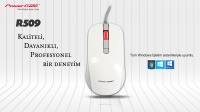 MOUSE-POWERGATE R509S KABLOLU BEYAZ USB MOUSE