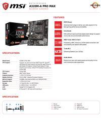 MSI A320M-A PRO MAX DDR4 3200 (OC) HDMI AM4