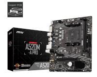 MSI A520M-A PRO AM4 DDR4 SES GLAN HDMI/DVI