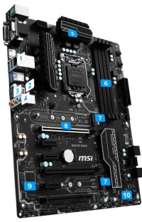 MSI B250 PC MATE DDR4 S+V+GL 1151 (ATX)