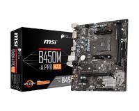 MSI B450M-A PRO MAX DDR4 VGA DVI HDMI 3466 3.1