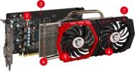 MSI GeForce GTX1050Ti-GAMINGX4G 4GB OC GDDR5 128Bit NVidia  Ekran Kartı