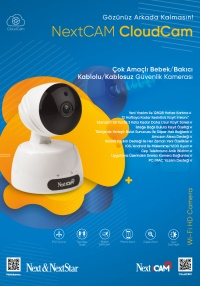 NextCam CloudCam Kablolu / Kablosuz HD Bebek Bakıcı Kamerası ıp  kamera