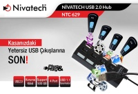 NIVATECH Ntc-629 4 Port Usb Çoklayıcı
