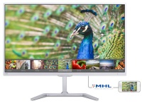 "PHILIPS 23,6"" 246E7QDSW/00 LED Monitör 5ms Beyaz Wide VGA DVI HDMI MHL  VESA ASILABLİR MONİTÖR"
