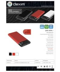 Dexim SY15 Led Ekranlı Hızlı 10.000mAh Powerbank Siyah DCA0027-B