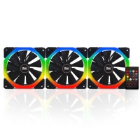 Power Boost Halo-Dual Rings 7 color 3xRGB Fan, 1xFan Control, 1xRemote (Combo kit)