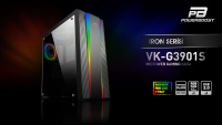POWER BOOST VK-G3901S USB3.0 SİYAH RAİNBOW RGB KASA (Power yok)