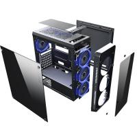 PowerBoost VK-G3904S USB3.0 Full Siyah Arcylic Halo Rainbow RGB Fan kasa (PSU Yok)