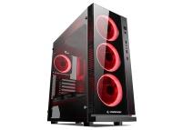 Rampage CARISMA-V1 4*12Cm Çift Kırmızı Fanlı Siyah 1*Usb3.0 2*Usb2.0 Cam Pencereli Oyuncu Kasa psu yok