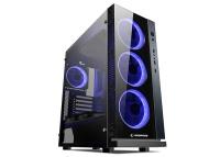 Rampage CARISMA-V1 4*12cm Mavi Ledli Fan Siyah 1*Usb3.0 2*Usb2.0 Cam Pencereli Oyuncu Kasa psu yok