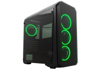 Rampage Falcon-X-Siyah Usb3.0 4*RGB Fan Temperli Cam Gaming Kasa  psu yok geniş büyük kasa