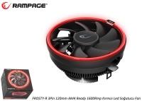 Rampage FROSTY-R 3Pin 120mm AM4 Ready 1600Rmp Kırmızı Led Soğutucu Fan