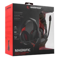 Rampage RM-K7 MAGNIFIC Siyah/kırmızı 7.1 Surround Sound System USB Mikrofonlu Oyuncu Kulaklığı
