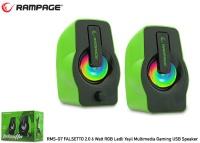 RAMPAGE RMS-G7 FALSETTO 2.0 6 Watt RGB Ledli Yeşil Multimedia Gaming USB Speaker