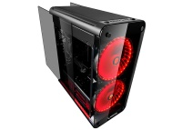 Rampage SQUADRON 3*Şeffaf Tempered Camlı Siyah 2*Usb 3.0 + 2*Usb 2.0 2*RGB Fan+2*RGB Led Oyun Kasa PSU YOK