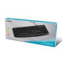 RAPOO NK2500 Kablolu Klavye TR Siyah USB KLAVYE