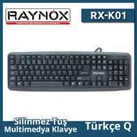 RAYNOX RX-K01 Q PS2 KABLOLU SİYAH KLAVYE