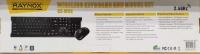 RAYNOX WX-W08 Q USB KABLOSUZ KLAVYE MOUSE  SET SİYAH