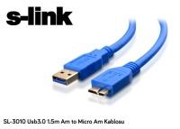S-LINK SL-3010 3.0 1.5M DISK KABLOSU