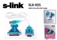S-LINK SLX-925 Usb To RS232 2.0 Çevirici Adaptör