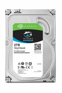 """SEAGATE 2TB 64MB SKYHAWK 3.5"""" Sata3 6Gb/s 5900RPM Güvenlik Diski(ST2000VX008)  7/24  7X24"""