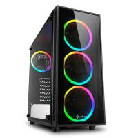 SHARKOON TG4 750W 80+ PLUS RGB USB3.0 4xRGB Fan Temperli Cam