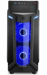 SHARKOON VG6-W-BLUE PENCERELİ GAMING MIDI KASA (FAN 3X120CM MAVİ)