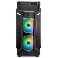 SHARKOON VG6-W-RGB PENCERELİ GAMING ŞIK VE KALİTELİ MIDI TOWER KASA
