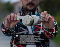 SNOPY SN-34BT COSY Gri Mobil Telefon Uyumlu Bluetooth Kablosuz Mikrofonlu Kulaklık