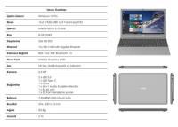 """TECHNOPC T15S-156 AURABOOK İNTEL İ5-5257U İşlemci 8GB 256GB 15,6"""" WIN 10 PRO"""