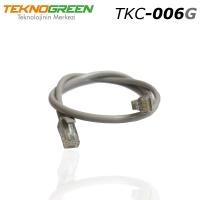 TEKNOGREEN  TKC-006G 0.60M CAT6 KABLO GRİ